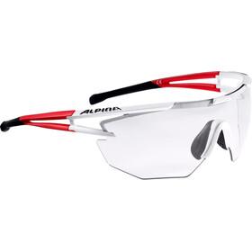 Alpina Eye-5 Shield VL+ Lunettes, white matt-red-black
